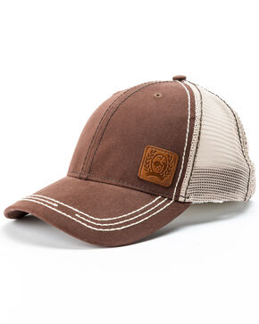 Cinch Women's Solid Trucker Cap, Brown, hi-res
