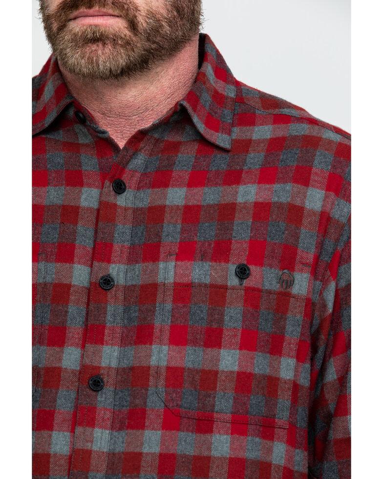 Wolverine Men's Red Legend Long Sleeve Flannel Long Sleeve Work Shirt , Dark Red, hi-res