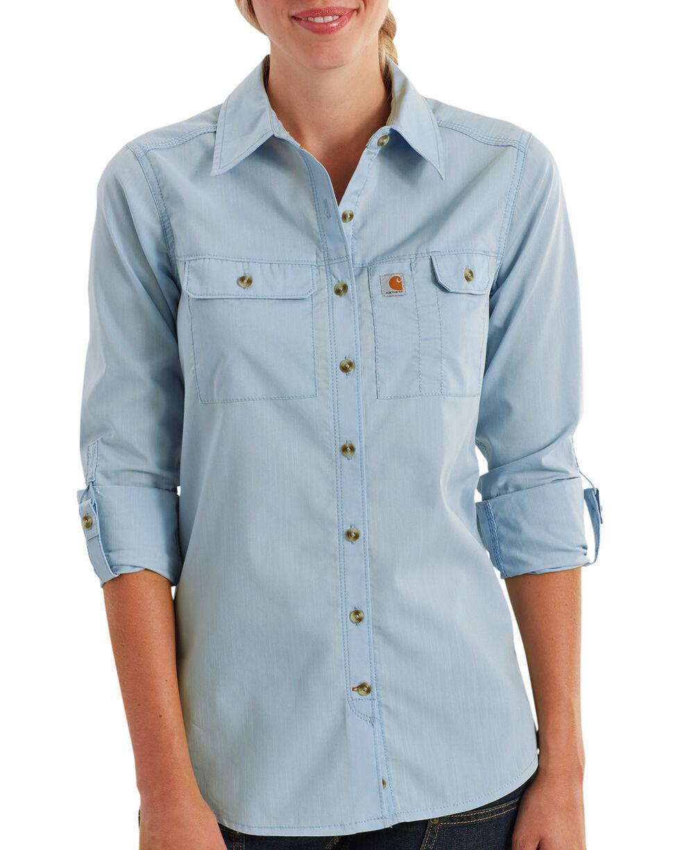 Carhartt Women's Force Ridgefield Shirt , Light Blue, hi-res