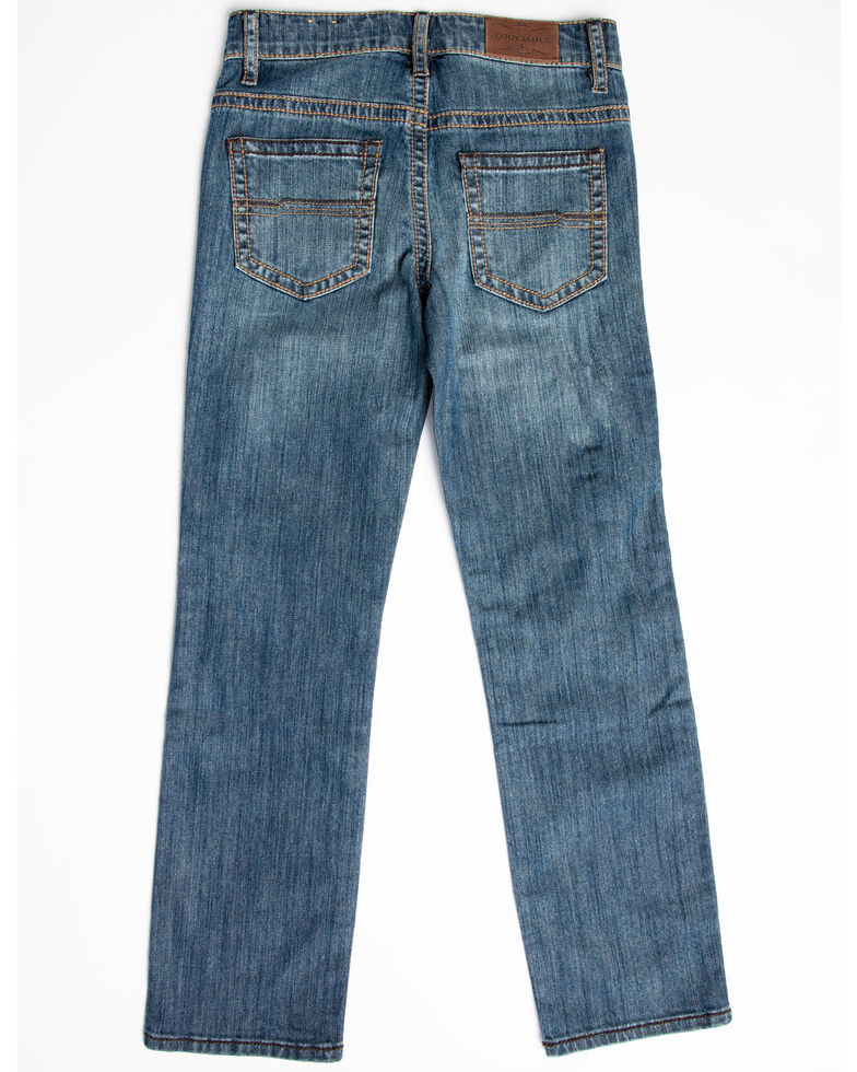 Cody James Boys' Bozeman Stretch Slim Bootcut Jeans - Big , , hi-res