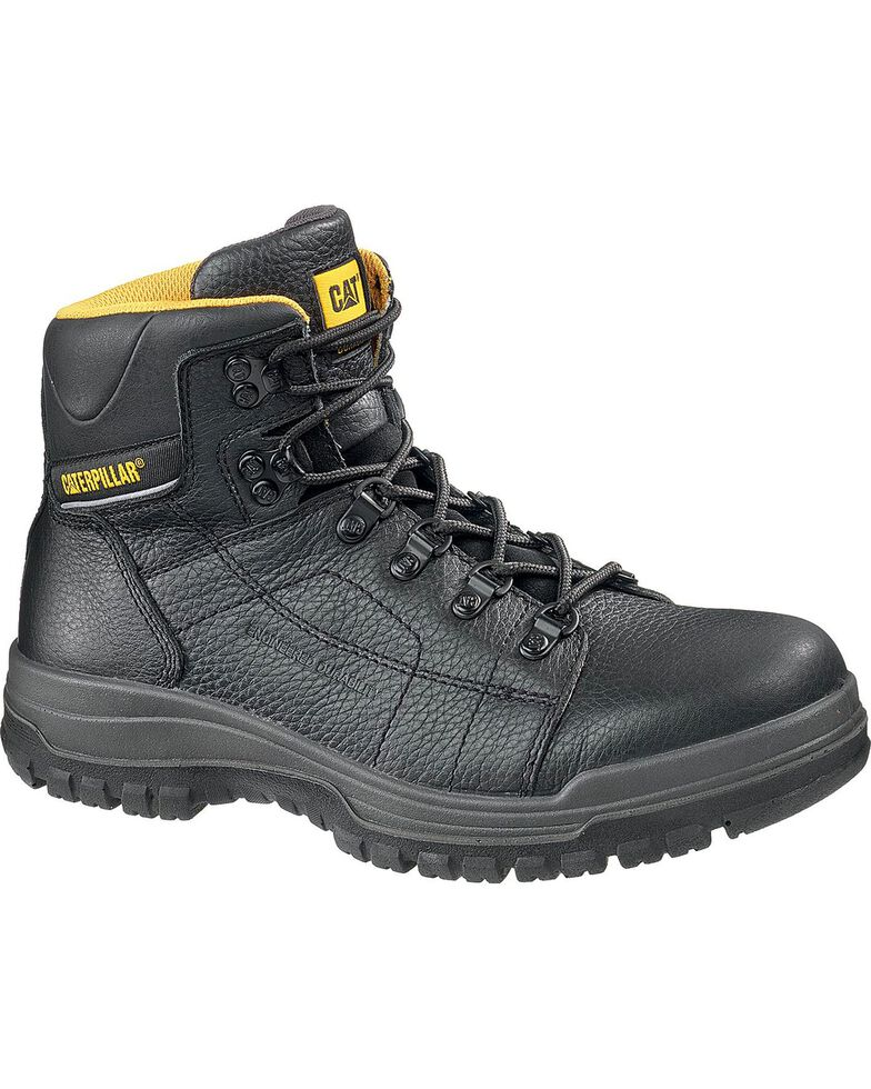 "Caterpillar Dimen High Top 6"" Lace-Up Duty Boots - Steel Toe, Black, hi-res"