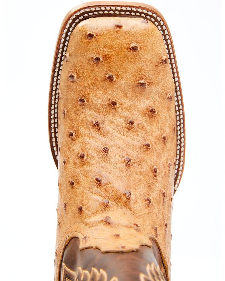 Cody James Men's Serengeti Exotic Ostrich Skin Western Boots - Wide Square Toe, Tan, hi-res