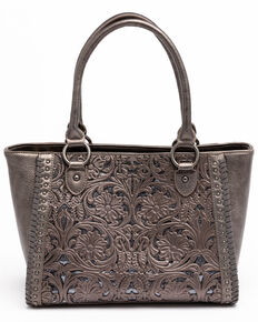 Shyanne Women's Grey Glitter Inlay Tote Bag, Medium Grey, hi-res