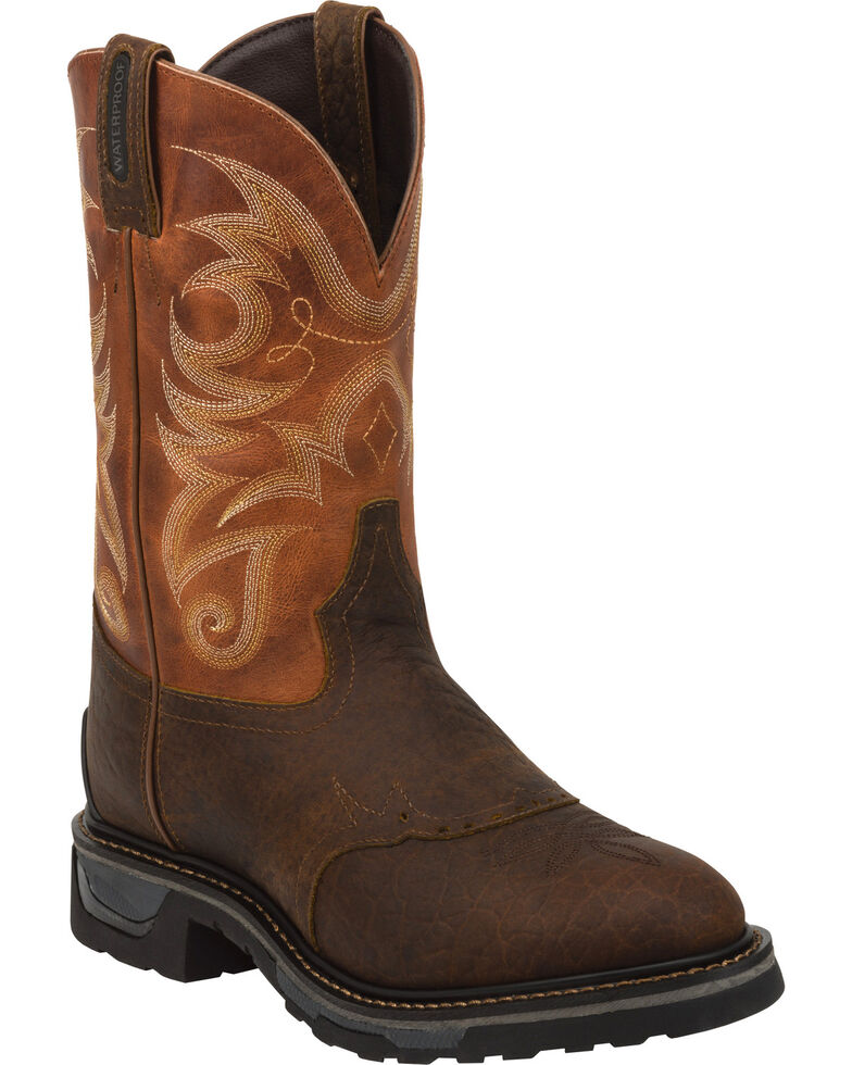 Tony Lama Men's Waterproof TLX Performance Western Work Boots, Brown, hi-res