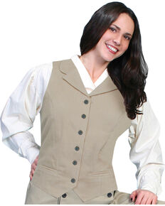 Rangewear by Scully Brushed Twill Vest, Tan, hi-res