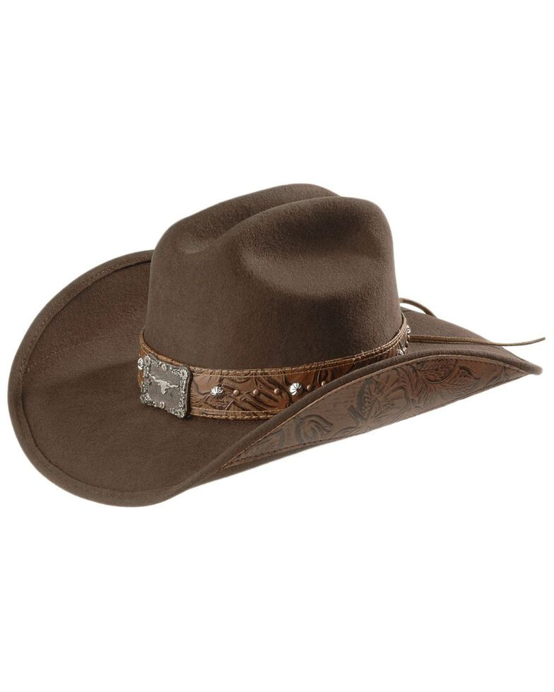 Bullhide Great Divide Wool Cowgirl Hat, Brown, hi-res