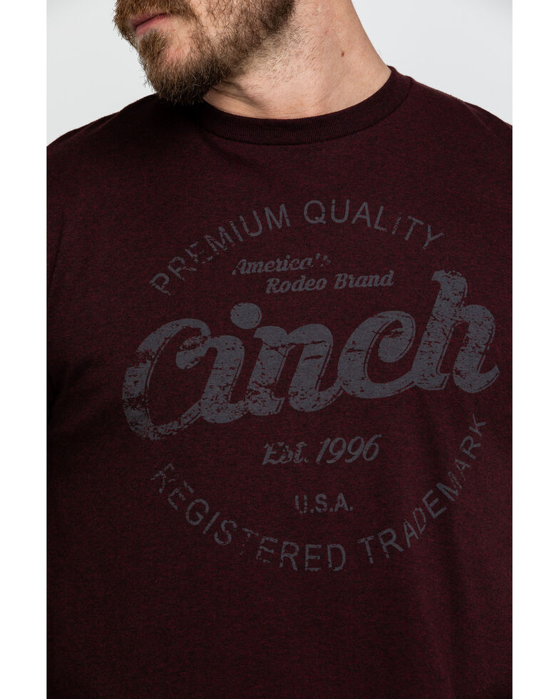 Cinch Men's Burgundy Logo Graphic T-Shirt  , Burgundy, hi-res