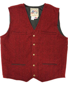 Schaefer Outfitter Men's Red Mckenzie Wool Vest, Red, hi-res