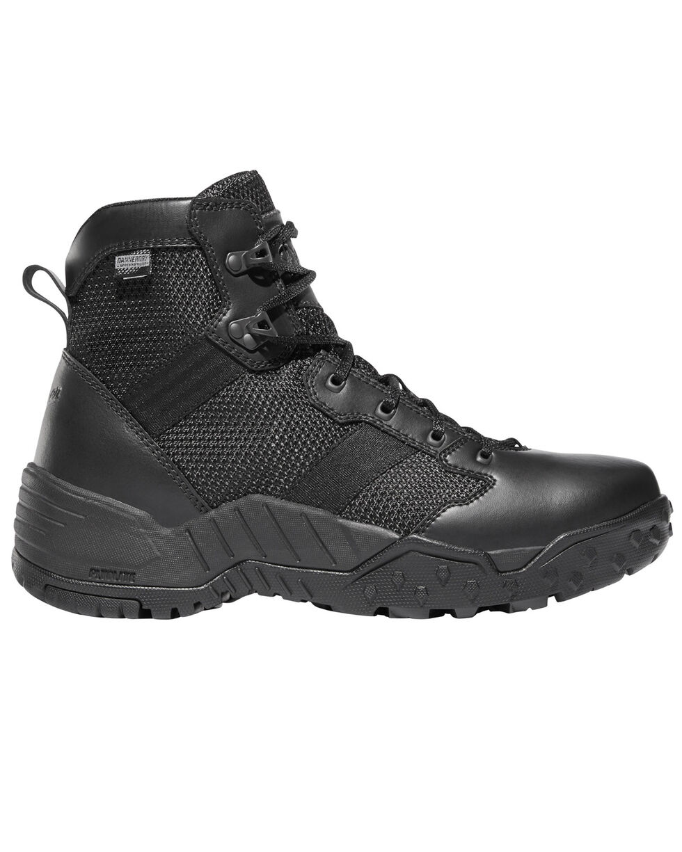 "Danner Men's Black Scorch Side Zip 6"" Boots - Round Toe , Black, hi-res"