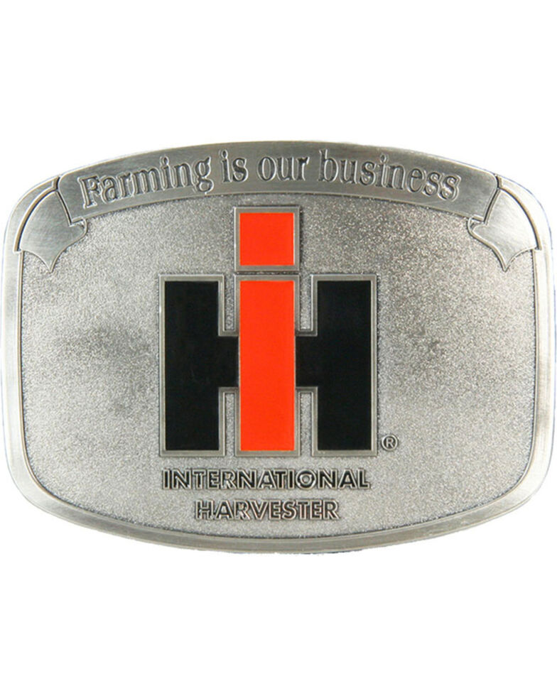 Western Express Men's Silver Farming Is Our Business IH Buckle , Silver, hi-res