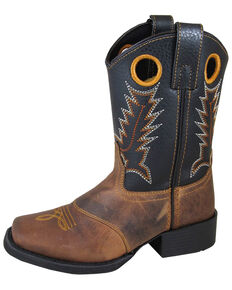 Smoky Mountain Youth Boys' Luke Western Boots - Square Toe, Brown, hi-res