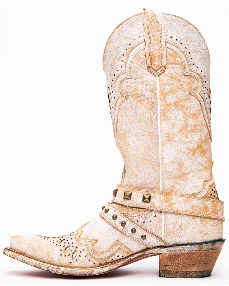 Dan Post Women's Restless Western Boots - Snip Toe, White, hi-res