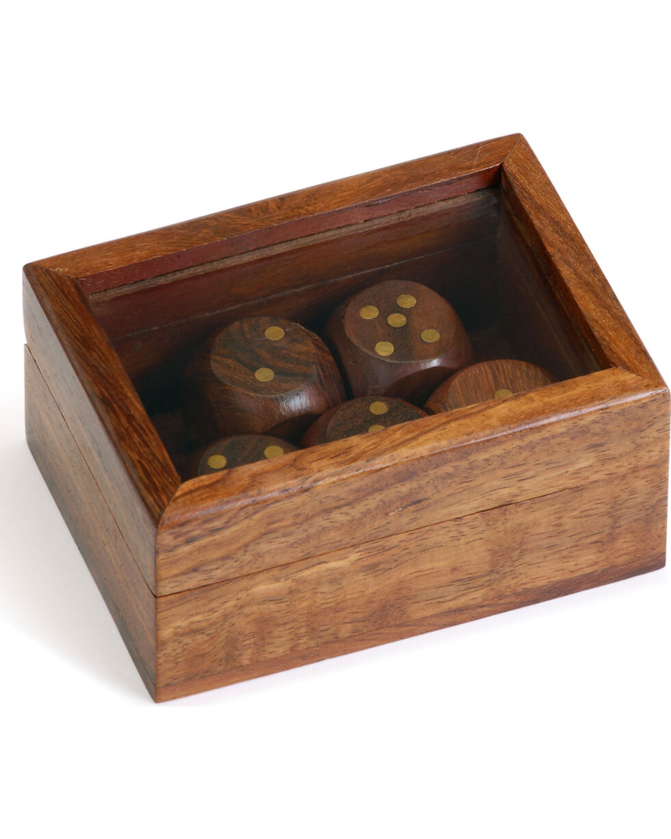 Demdaco Executive Wood Dice Game, Brown, hi-res