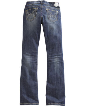 Tin Haul Women's Dolly Celebrity Star Stitch Bootcut Jeans, Denim, hi-res