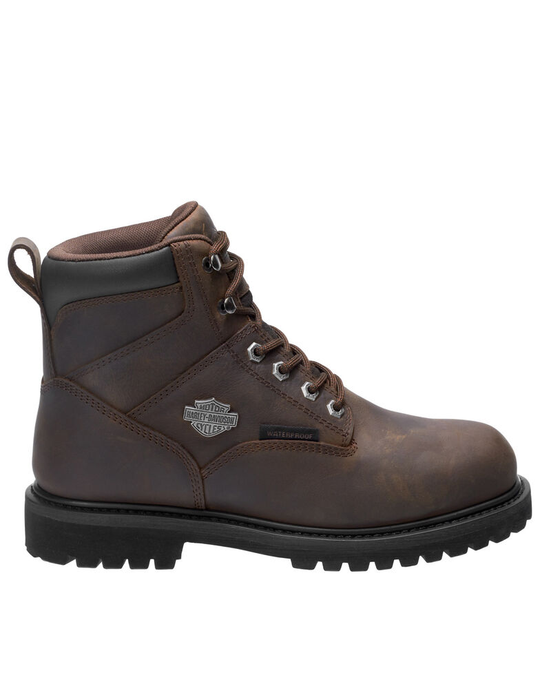 Harley Davidson Men's Gavern Waterproof Work Boots - Soft Toe, Brown, hi-res