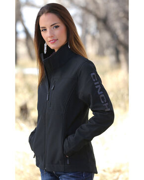 Cinch Women's Black Concealed Carry Bonded Jacket, Black, hi-res