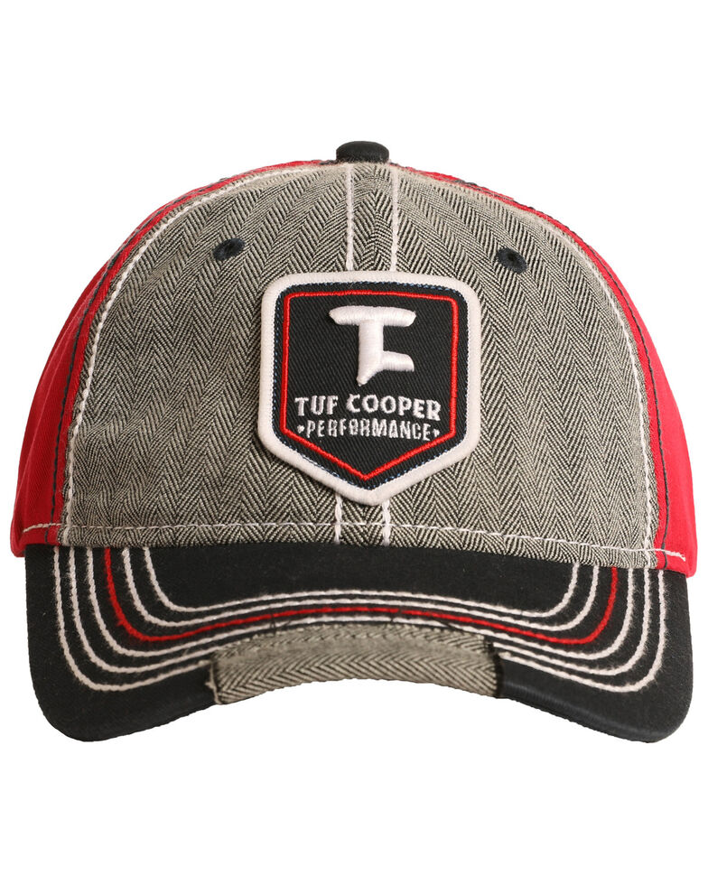 Tuf Cooper Men's Grey Emblem Patch Cap, Grey, hi-res