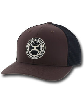 HOOey Men's Brown Guadalupe Trucker Cap, Brown, hi-res