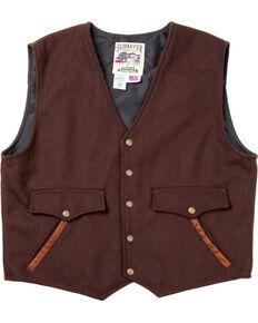 Schaefer Outfitter Men's Chocolate Stockman Melton Wool Vest - 2XLT, Chocolate, hi-res