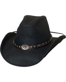 10031dd4023 Bullhide Get On Top Grain Leather Hat.  74.99. Western Express Mens Black  Leather Hat