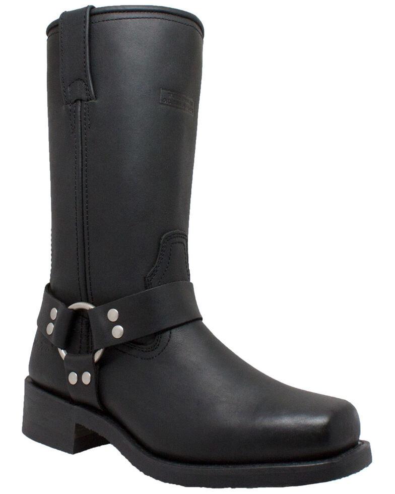 """Ad Tec Women's 12"""" Harness Boots - Round Toe, Black, hi-res"""