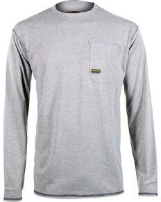 Ariat Men's Rebar Crew Long Sleeve Shirt, Hthr Grey, hi-res