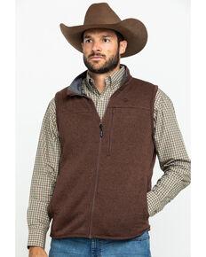 George Strait By Wrangler Men's Acorn Knit Vest, Brown, hi-res
