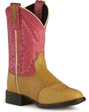 Jama Youth Ultra-Flex Western Boots, Sand, hi-res