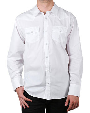 Gibson Men's Solid Long Sleeve Shirt - Big & Tall, White, hi-res