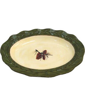 HiEnd Accents Pine Cone Serving Platter, Multi, hi-res