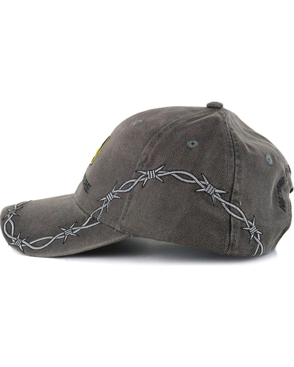 John Deere Men's Barbed Wire Ball Cap, Grey, hi-res
