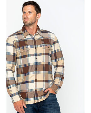 Filson Men's Vintage Flannel Work Shirt , Beige/khaki, hi-res