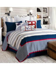 HiEnd Accents Navy 2 Piece Liberty Quilt Set - Twin , Navy, hi-res