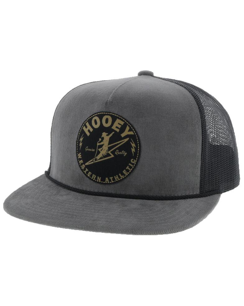 Hooey Men's Grey Buzz Circle Patch Ball Cap , Grey, hi-res