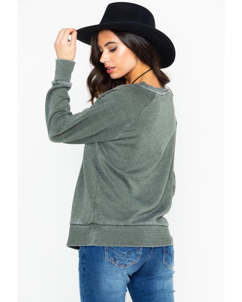 Ariat Women's Born Free Rose Long Sleeve Shirt, Black, hi-res