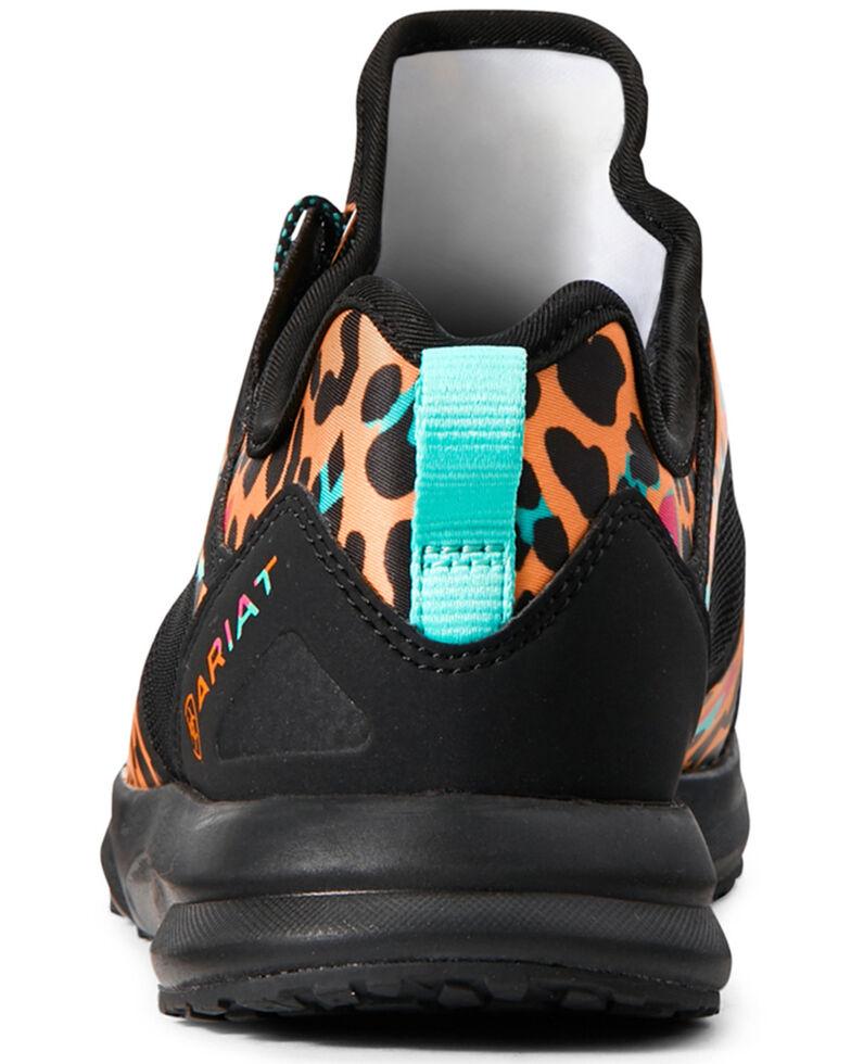Ariat Women's Fuse Satin Leopard Print Shoes - Round Toe, Multi, hi-res