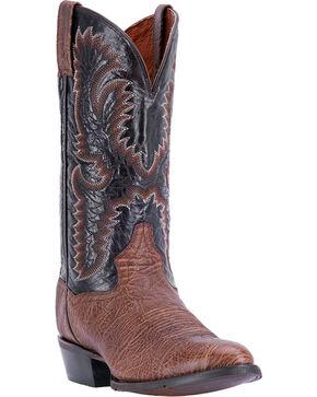 Dan Post Men's Moses Round Toe Western Boots, Chocolate, hi-res