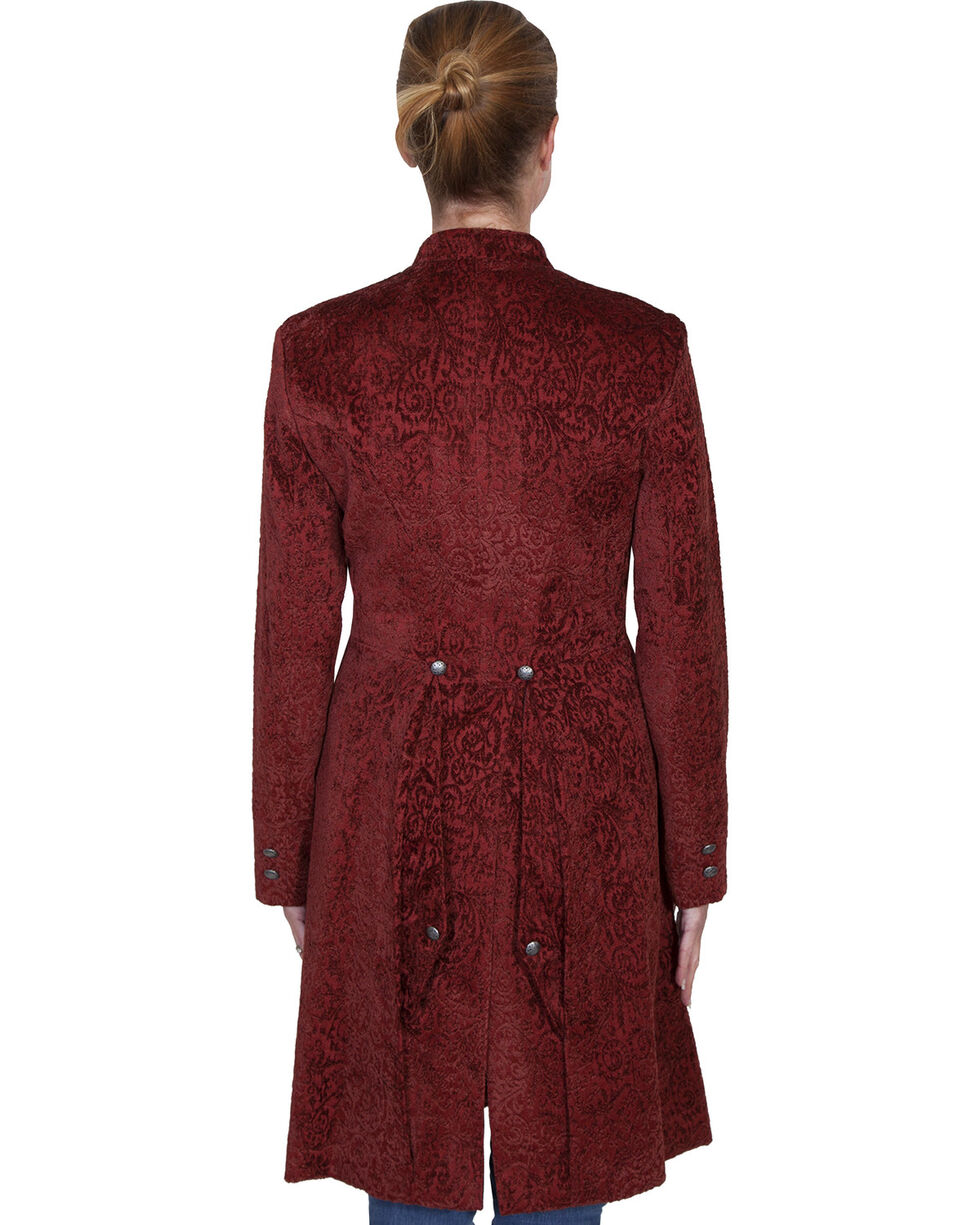 WahMaker by Scully Old West Chenille Heritage Coat, Wine, hi-res