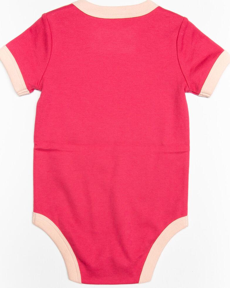 Shyanne Infant Girls' Daddy's Little Pistol Short Sleeve Onesie, Pink, hi-res