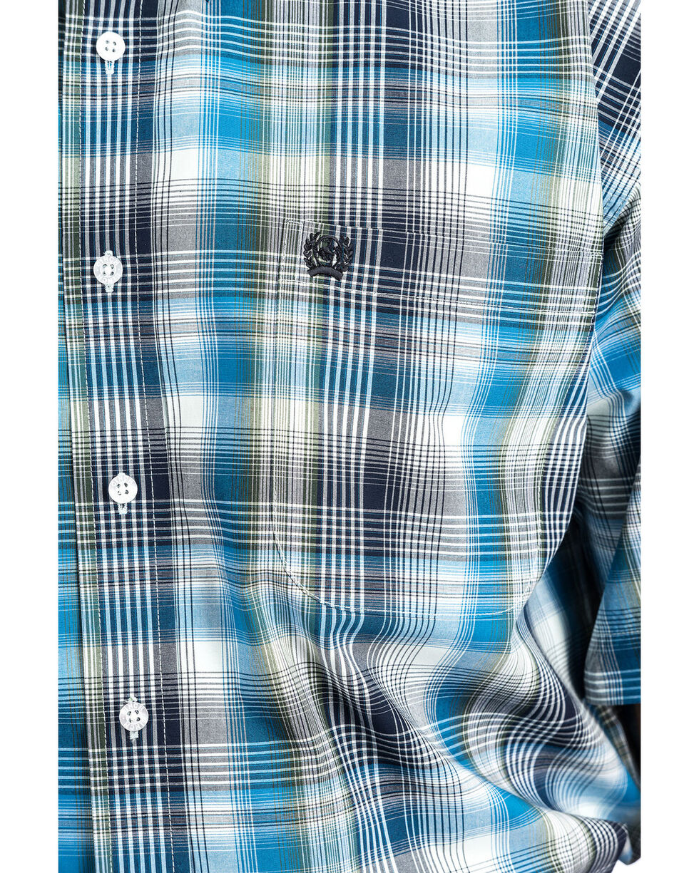 Cinch Men's 4X Plaid Short Sleeve Western Shirt , Multi, hi-res