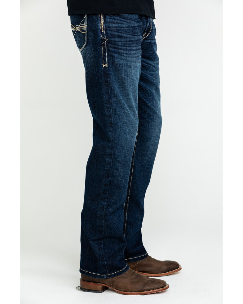 Ariat Men's M5 Denali Low Stackable Slim Straight Jeans , Blue, hi-res
