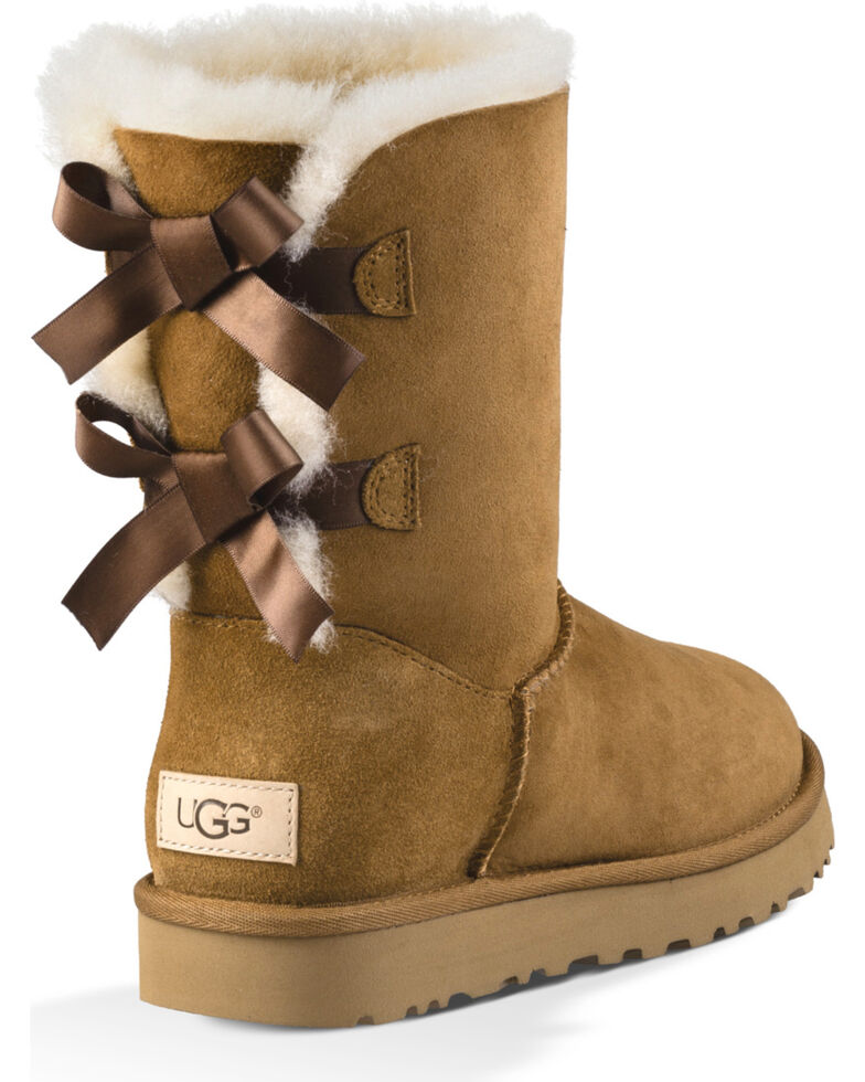 d0f318f4428 UGG Women's Chestnut Bailey Bow II Boots - Round Toe