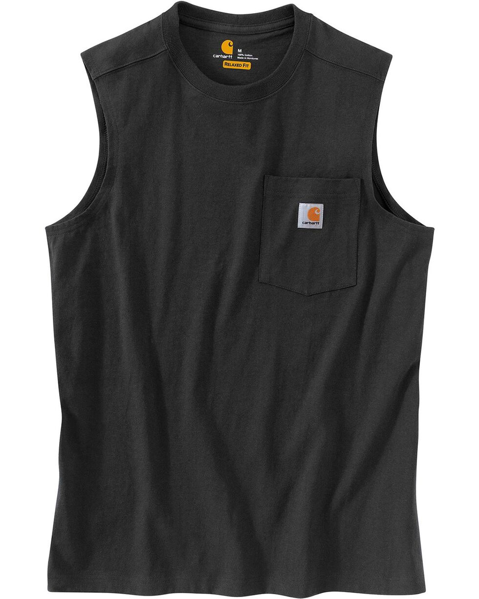 Carhartt Men's Workwear Sleeveless T-Shirt, Black, hi-res