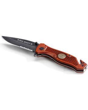 Big Sky Carvers Big Shot Rescue Pocket Knife, Brown, hi-res