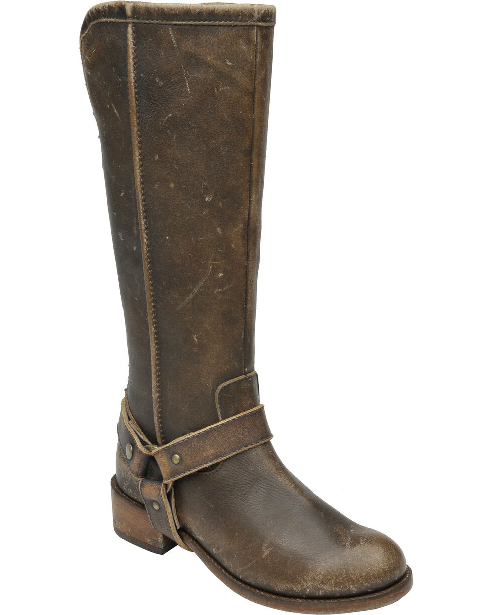 Circle G Women's Tall Harness Boots, Brown, hi-res