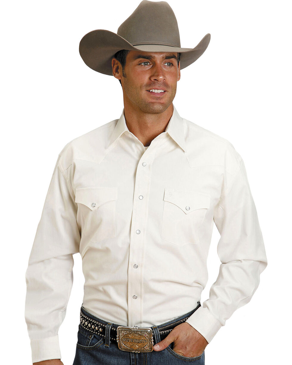 Stetson Solid White Pinpoint Oxford Shirt, White, hi-res