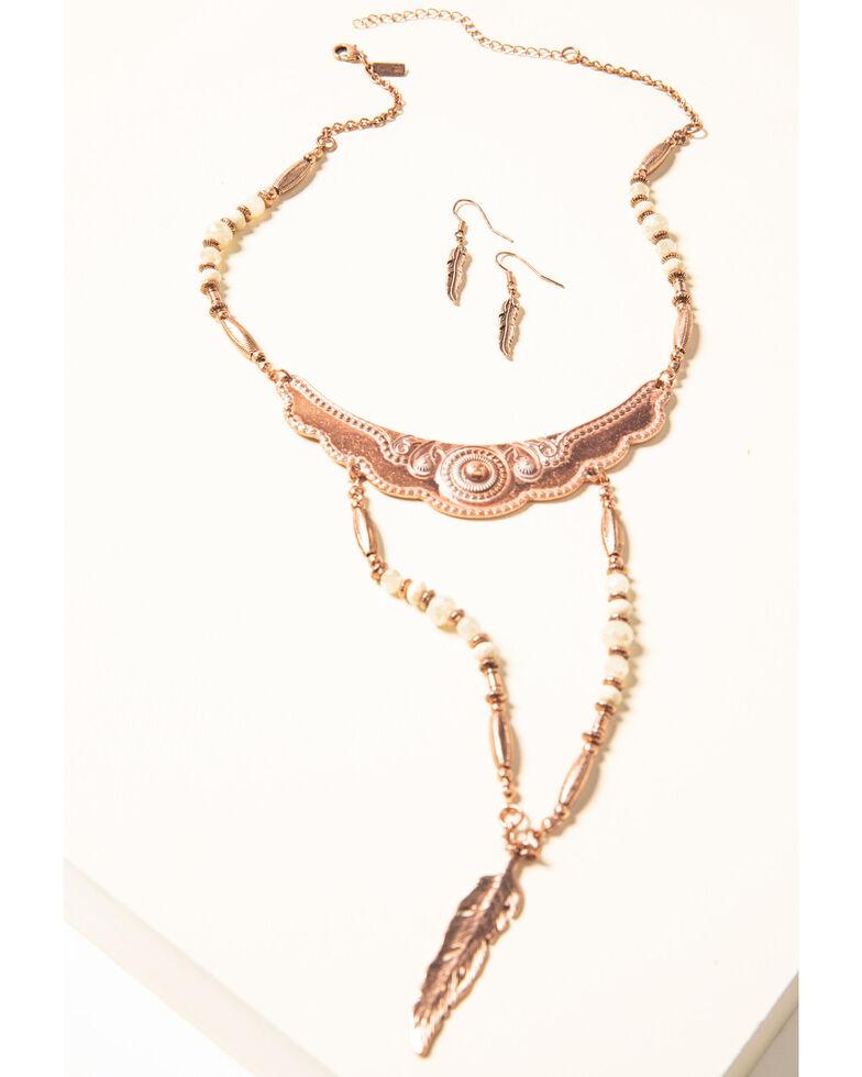 Shyanne Women's Desert Dreams Two Tier Beaded Jewelry Set , Rust Copper, hi-res