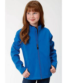 Roper Girls' Blue Softshell Jacket, Blue, hi-res