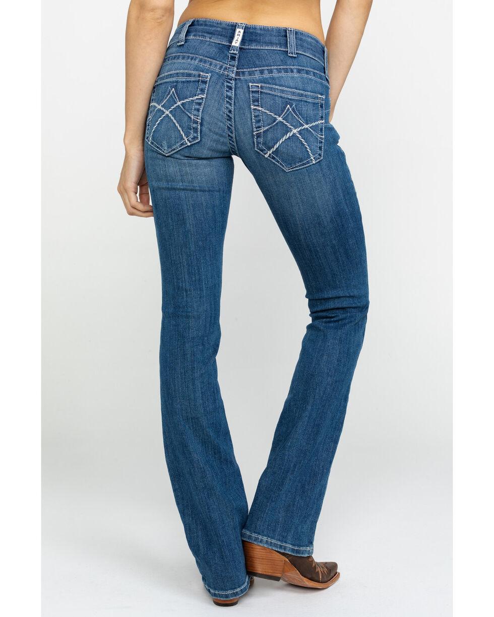 Ariat Women's Jasmine Eleanor Mid Rise Boot Jeans , Indigo, hi-res