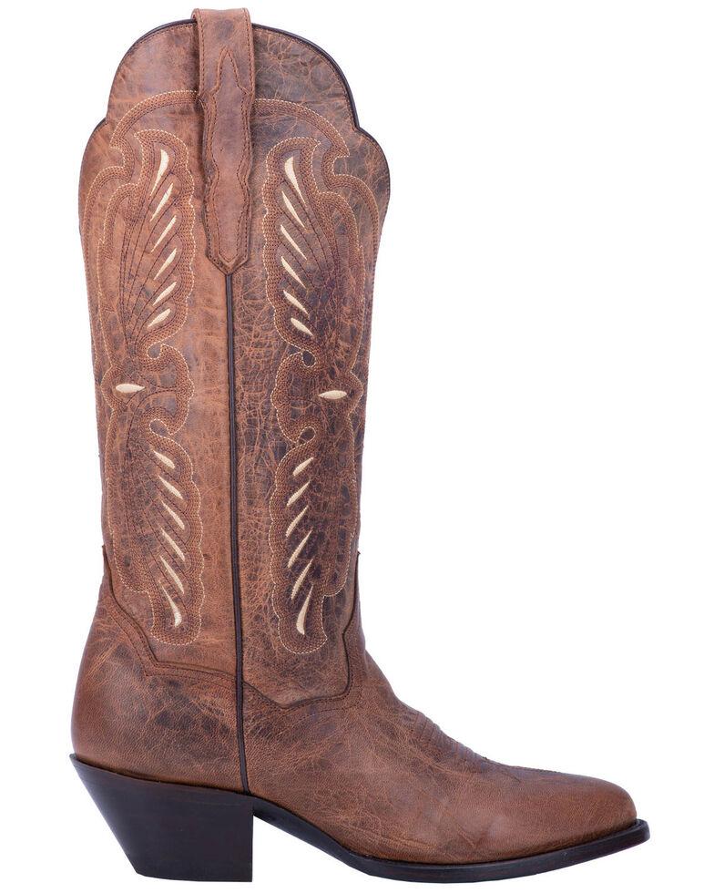 Dan Post Women's Tillie Western Boots - Round Toe, Brown, hi-res